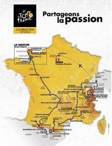 Carte Tour France