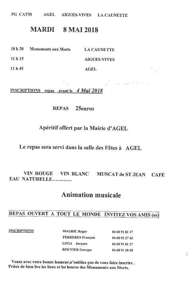 Repas des Anciens Combattants @ Salle des fêtes | Agel | Occitanie | France