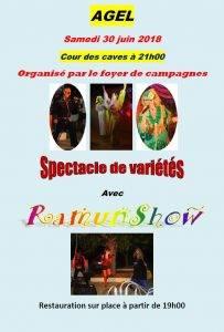 Spectacle de variétés avec Ramunshow @ Cour des caves | Agel | Occitanie | France