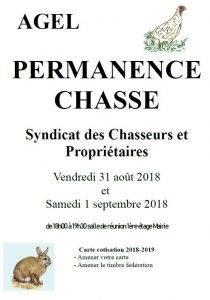 Permanence carte  Syndicat des Chasseurs et Propriétaires @ Salle communale | Agel | Occitanie | France