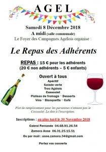 Repas des adhérents du Foyer des Campagnes Agelois @ Salle des fêtes | Agel | Occitanie | France