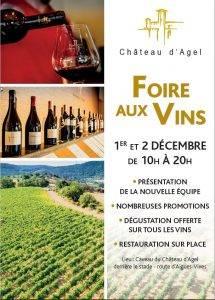 Foire aux vins @ Caveau château d'Agel route d'Aigues-Vives | Agel | Occitanie | France