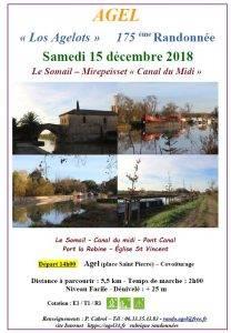 """Randonnée Le Somail - Mirepeisset """"Canal du midi"""" @ Le Somail"""