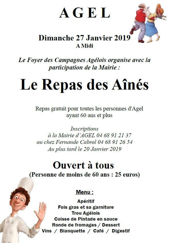 Repas des Aînés @ Salle communale | Agel | Occitanie | France