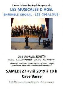 """Chorale """"Les Cigalous"""" @ cave basse"""