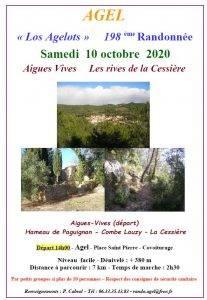 """Randonnée n° 198 à Aigues-Vives """"Les rives de la Cessière"""" @ Aigues-Vives"""