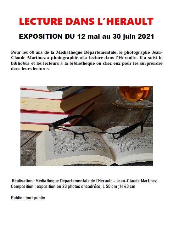 """Exposition à la Médiathèque """"Lecture dans l'Hérault"""" @ Médiathèque"""