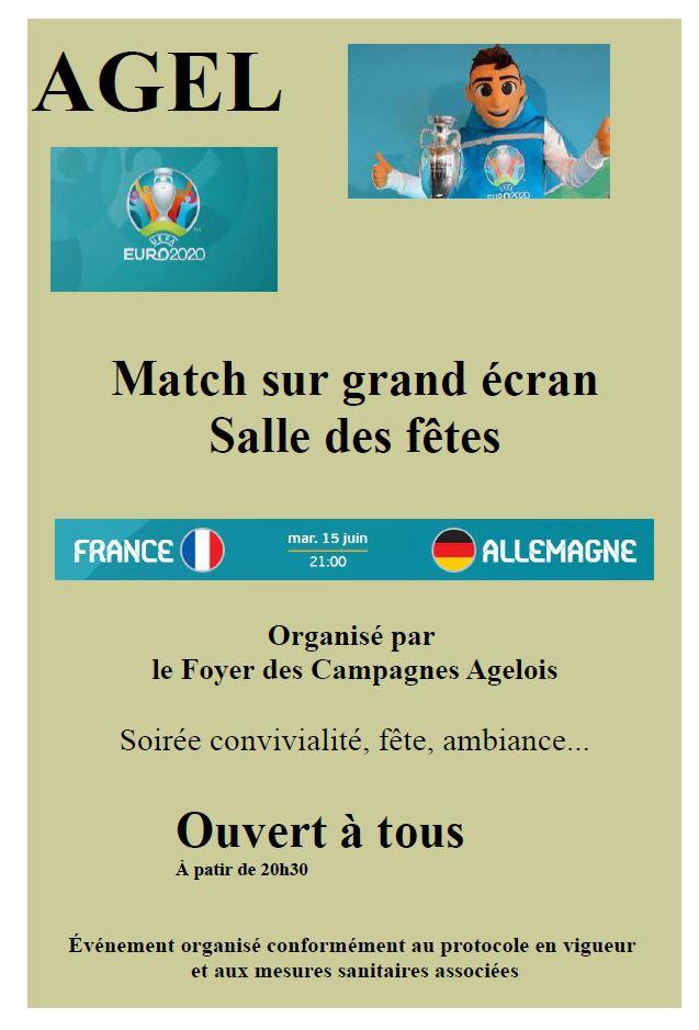 Match de l 'EURO 2021 de football sur grand écran - France - Allemagne @ Salle des fêtes