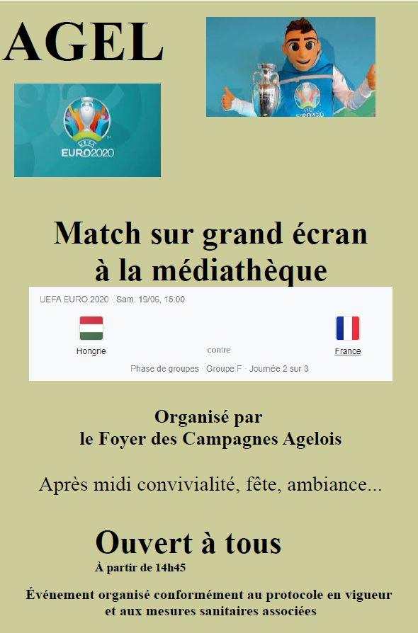 Match de l 'EURO 2021 de football sur grand écran - Hongrie - France @ Salle des fêtes
