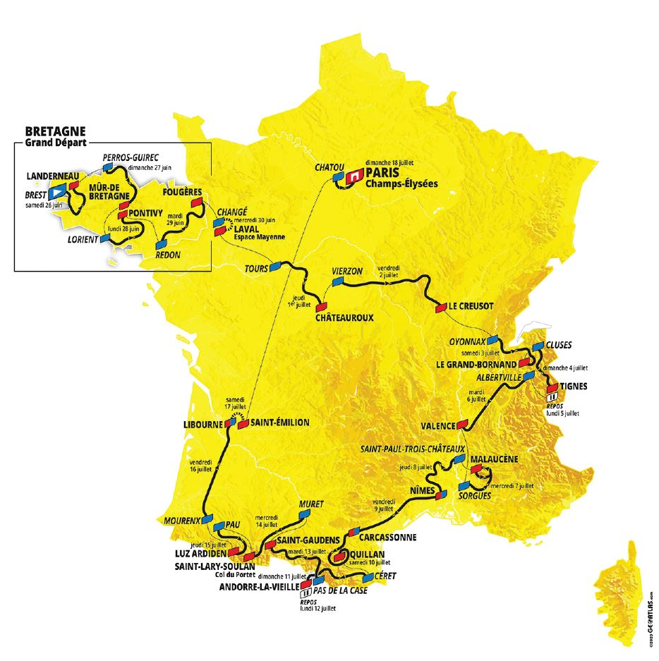 Passage du Tour de France Cycliste - 13-ème étape Nîmes - Carcassonne @ AGEL